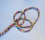 Fasten the intersections of the loops with a small wire