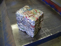 Block of aluminum cans