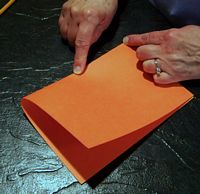 folding paper to mark center