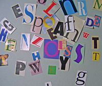 Assorted Cut Out Letters