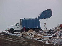 Packer Truck at Landfill