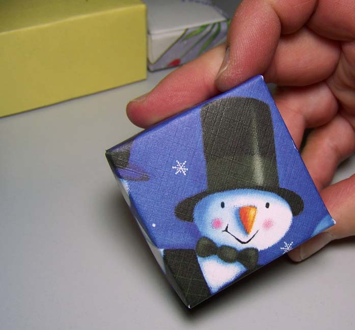 Assorted Cards To Make Boxes Snowman Card Box Greeting