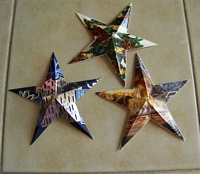 3 Finished star examples