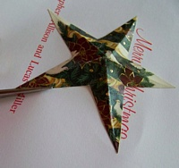 Cutting out the star after drying