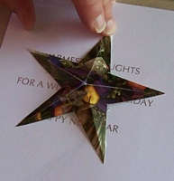 Glueing the star to the backing